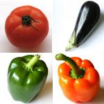 pates tomate aubergines poivrons