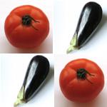 pates tomates aubergine